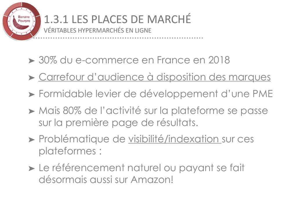 1.3.1 LES PLACES DE MARCHÉ VÉRITABLES HYPERMARC...