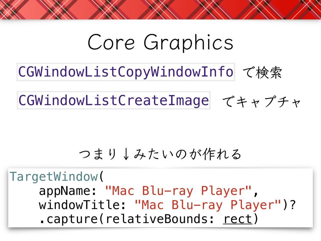 CGWindowListCreateImage CGWindowListCopyWindowI...