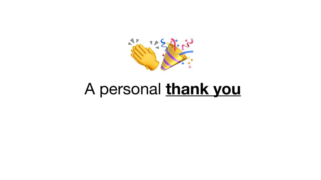 A personal thank you