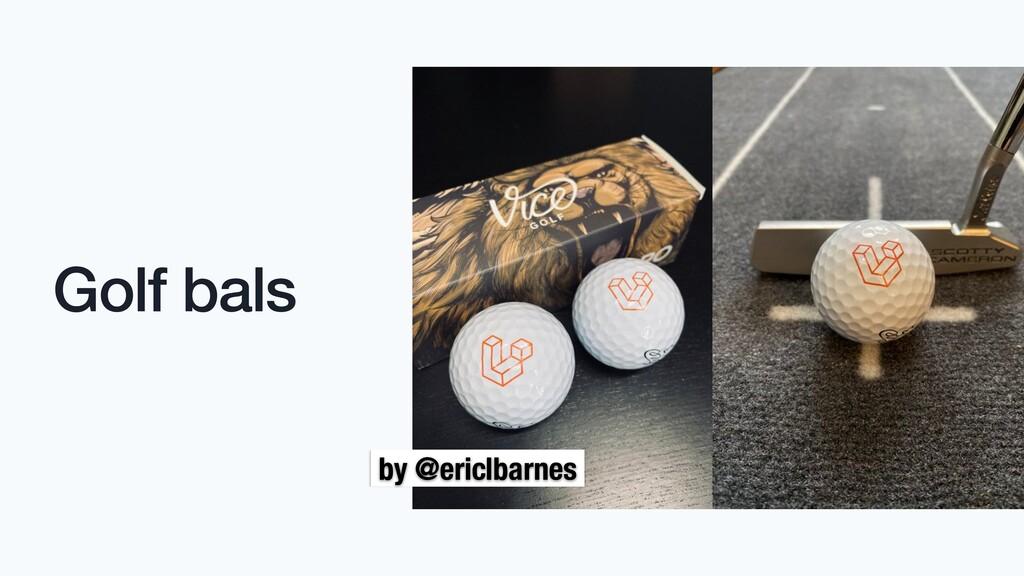 Golf bals by @ericlbarnes