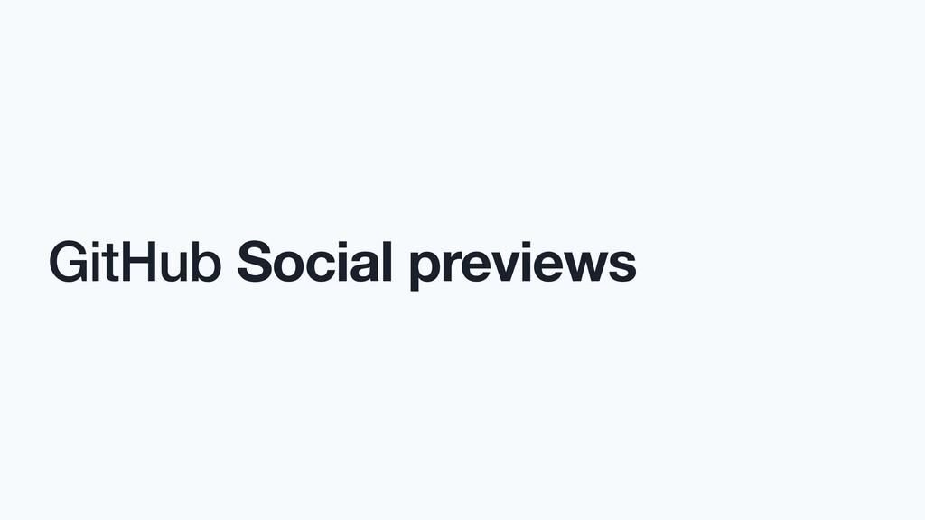GitHub Social previews