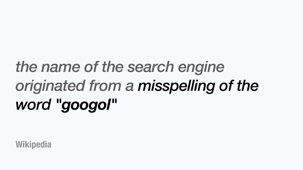 Wikipedia the name of the search engine origina...