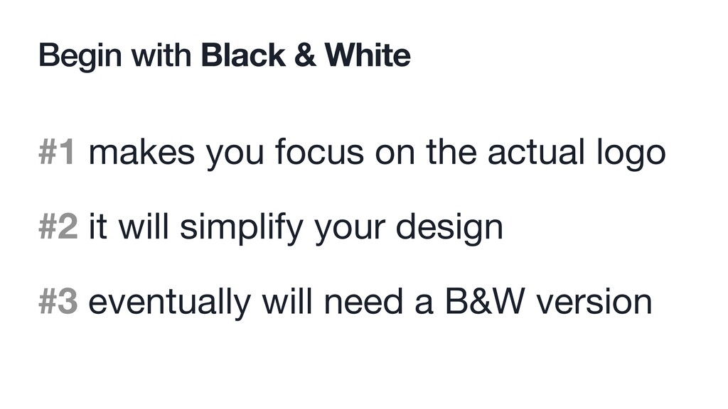 Begin with Black & White #1 makes you focus on ...