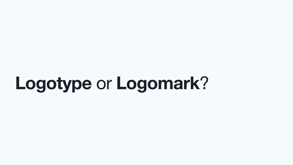 Logotype or Logomark?