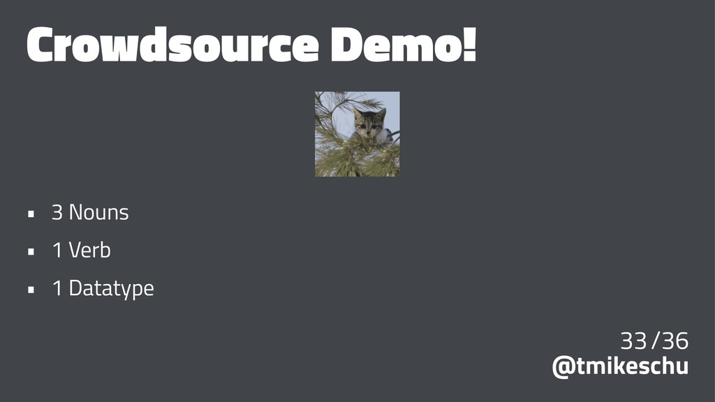 Crowdsource Demo! • 3 Nouns • 1 Verb • 1 Dataty...