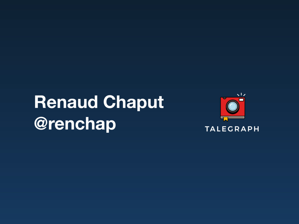 Renaud Chaput @renchap
