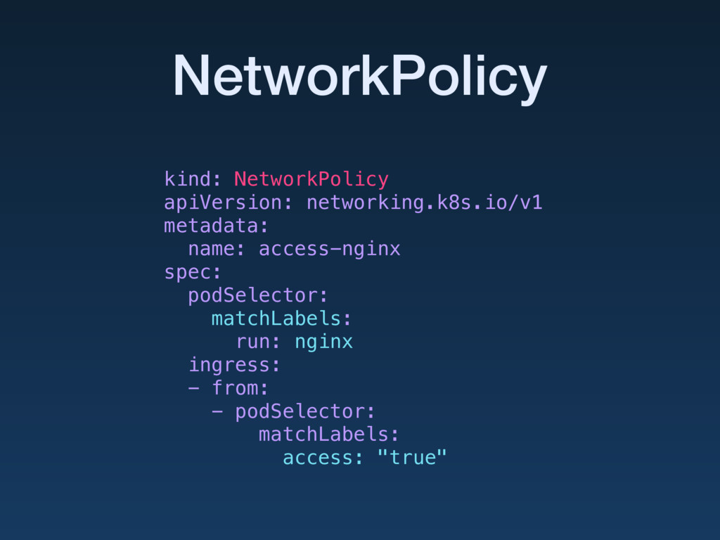 NetworkPolicy kind: NetworkPolicy apiVersion: n...