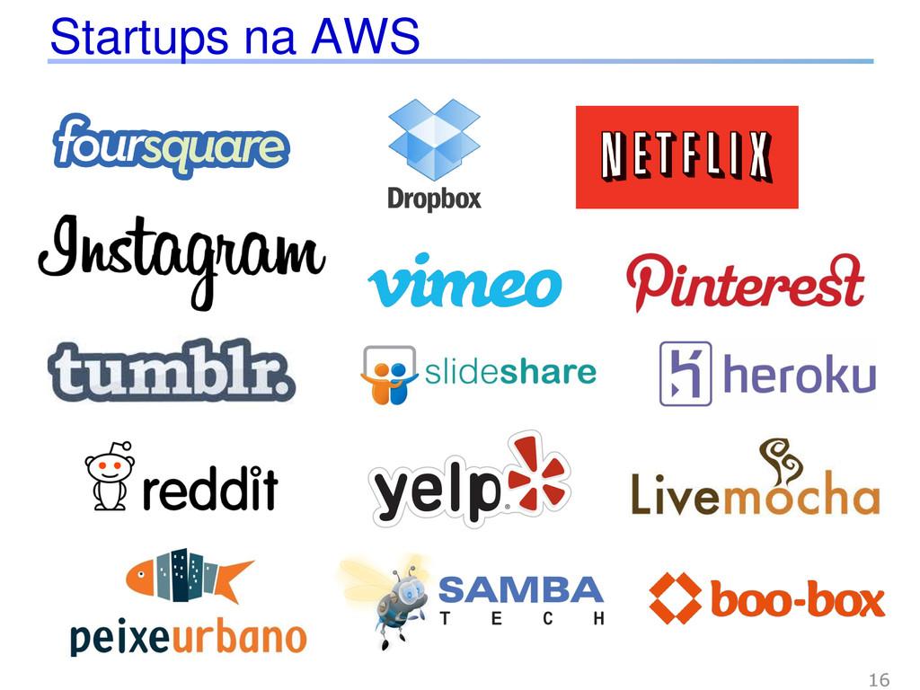 Startups na AWS 16