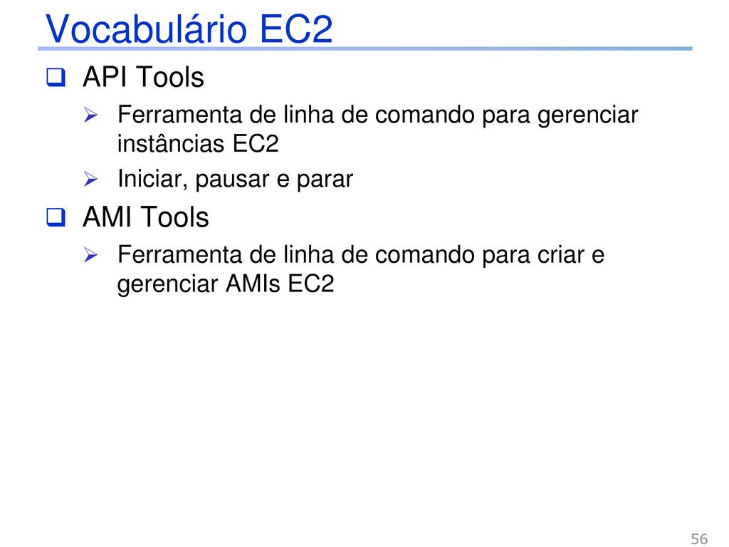 Vocabulário EC2  API Tools  Ferramenta de lin...