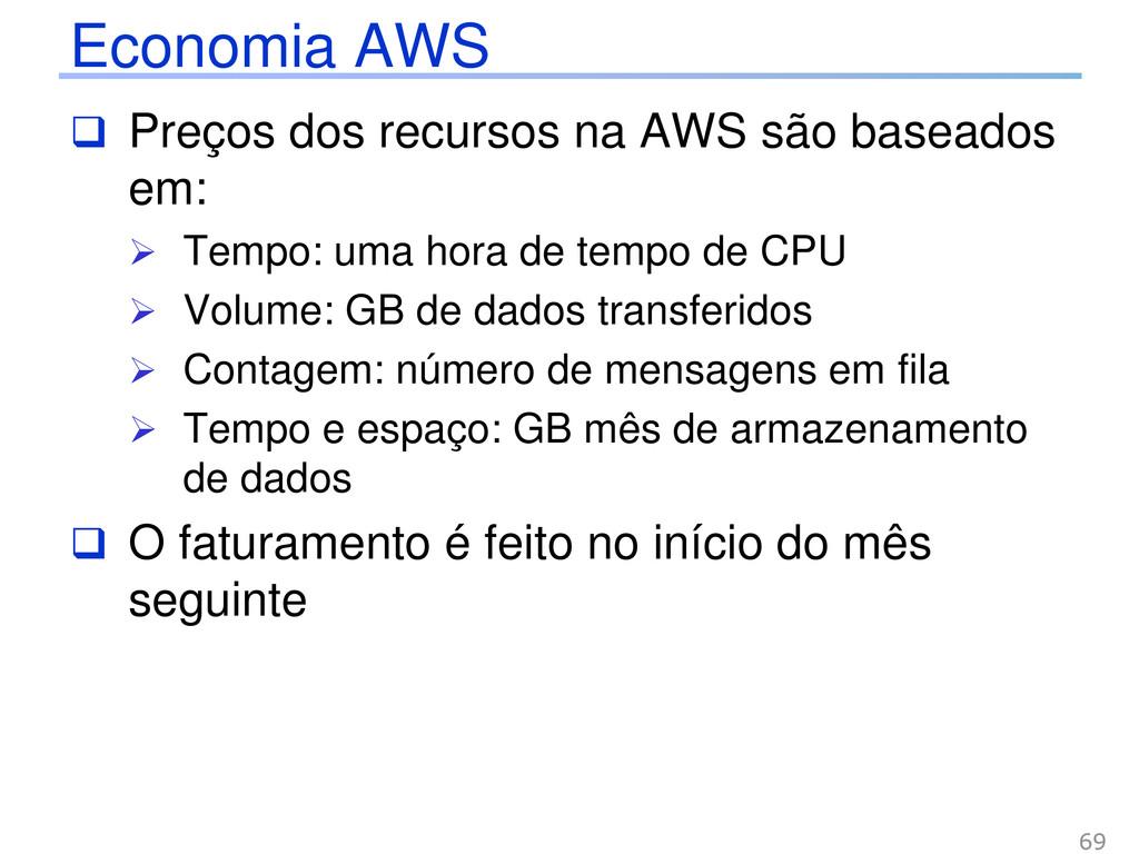 Economia AWS  Preços dos recursos na AWS são b...
