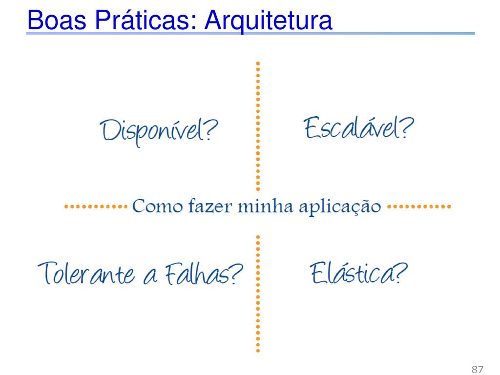 Boas Práticas: Arquitetura 87
