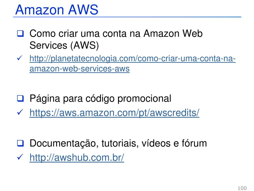 Como criar uma conta na Amazon Web Services (...