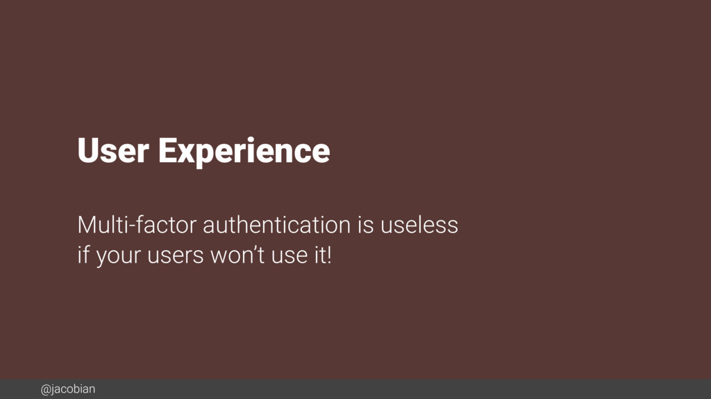 @jacobian User Experience Multi-factor authenti...