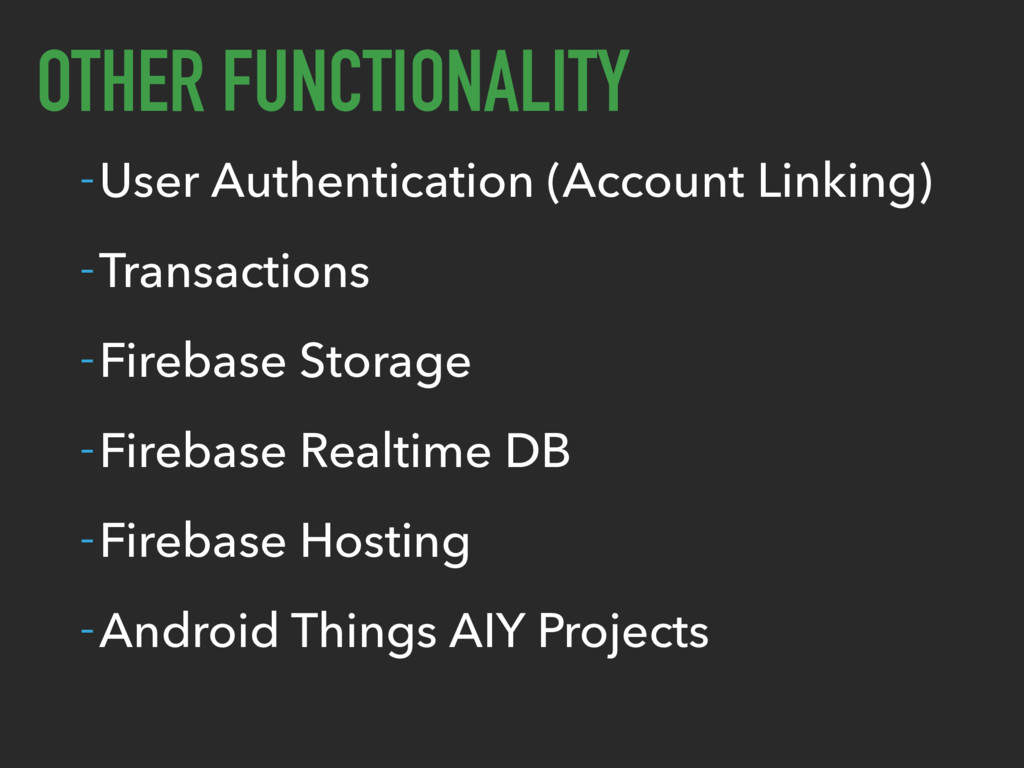 OTHER FUNCTIONALITY -User Authentication (Accou...