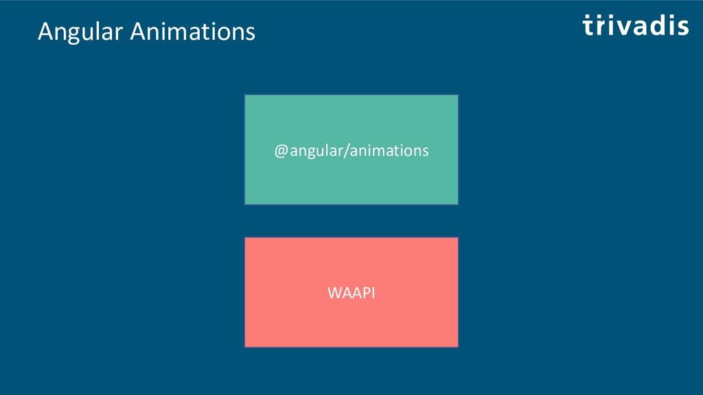 Angular Animations @angular/animations WAAPI