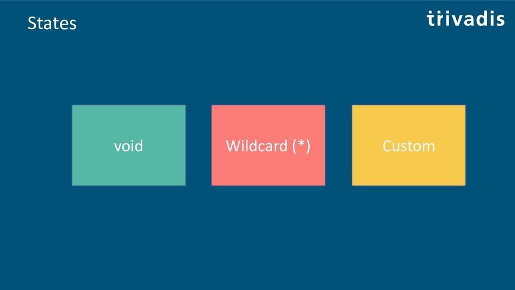 States void Wildcard (*) Custom