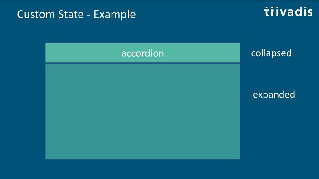 Custom State - Example accordion collapsed expa...
