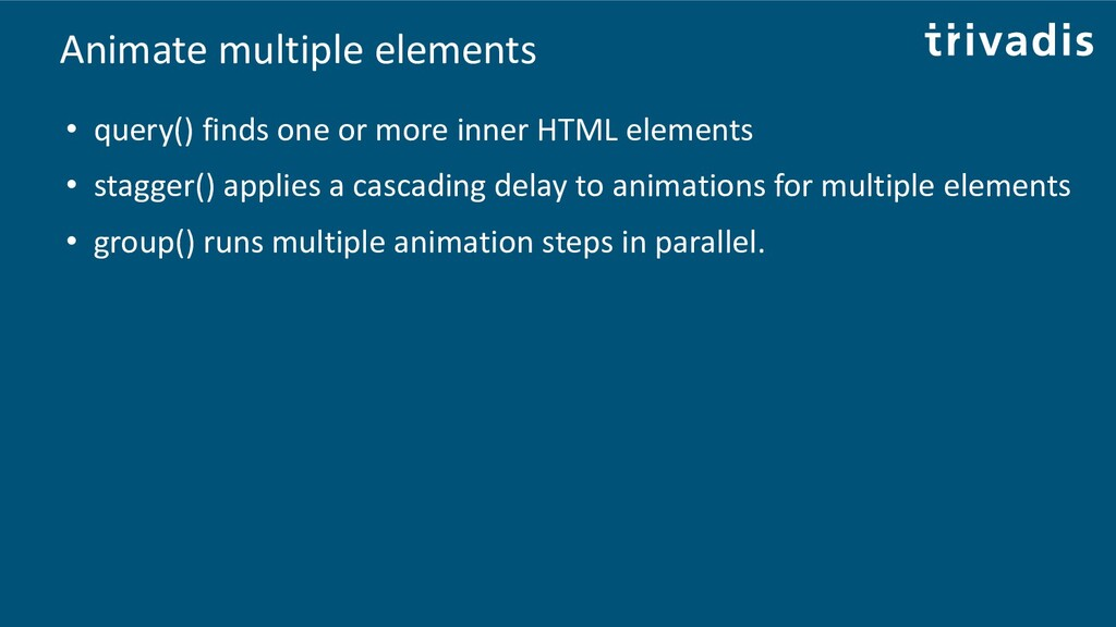 Animate multiple elements • query() finds one o...