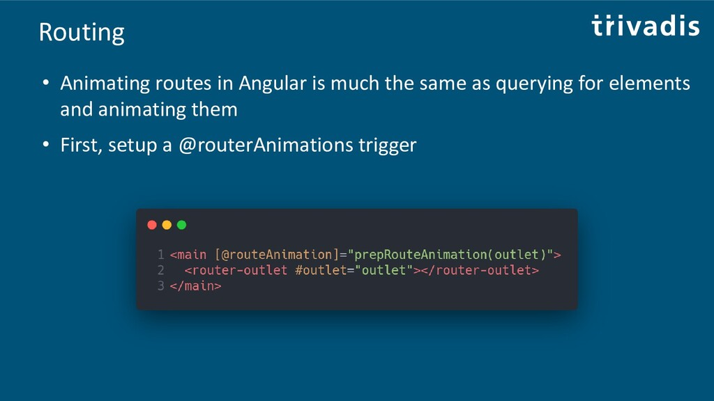 Routing • Animating routes in Angular is much t...