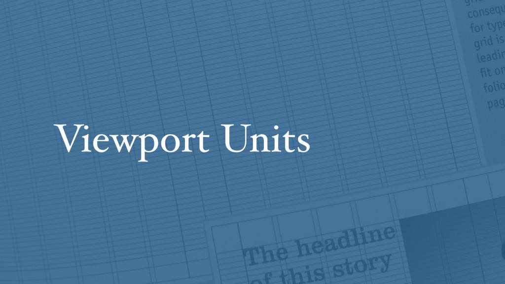 Viewport Units