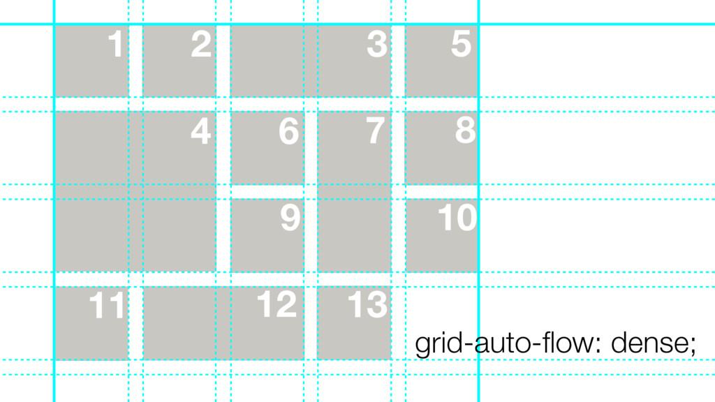 13 11 8 9 10 7 6 5 1 2 3 4 12 grid-auto-flow: de...