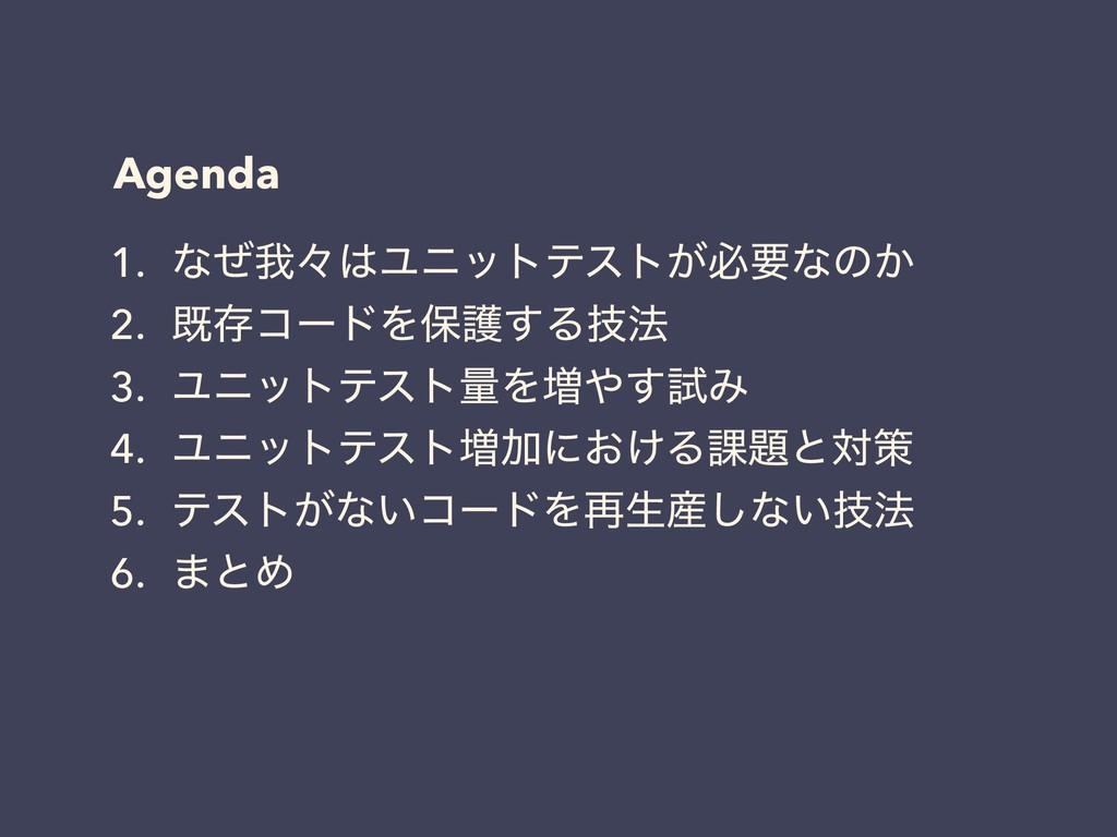 Agenda 1. ͳͥզʑϢχοτςετ͕ඞཁͳͷ͔ 2. طଘίʔυΛอޢ͢Δٕ๏ 3....