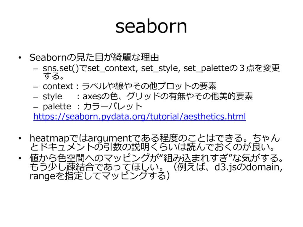 seaborn • Seabornの見た目が綺麗な理由 – sns.set()でset_con...