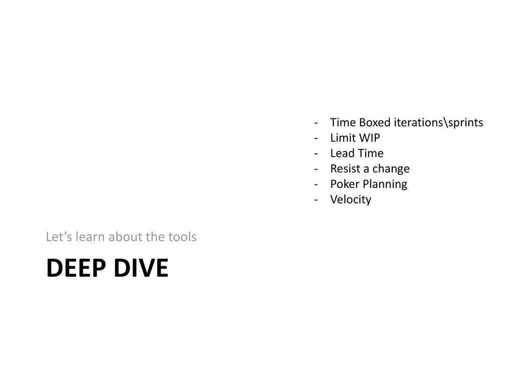 DEEP DIVE Let's learn about the tools - Time Bo...