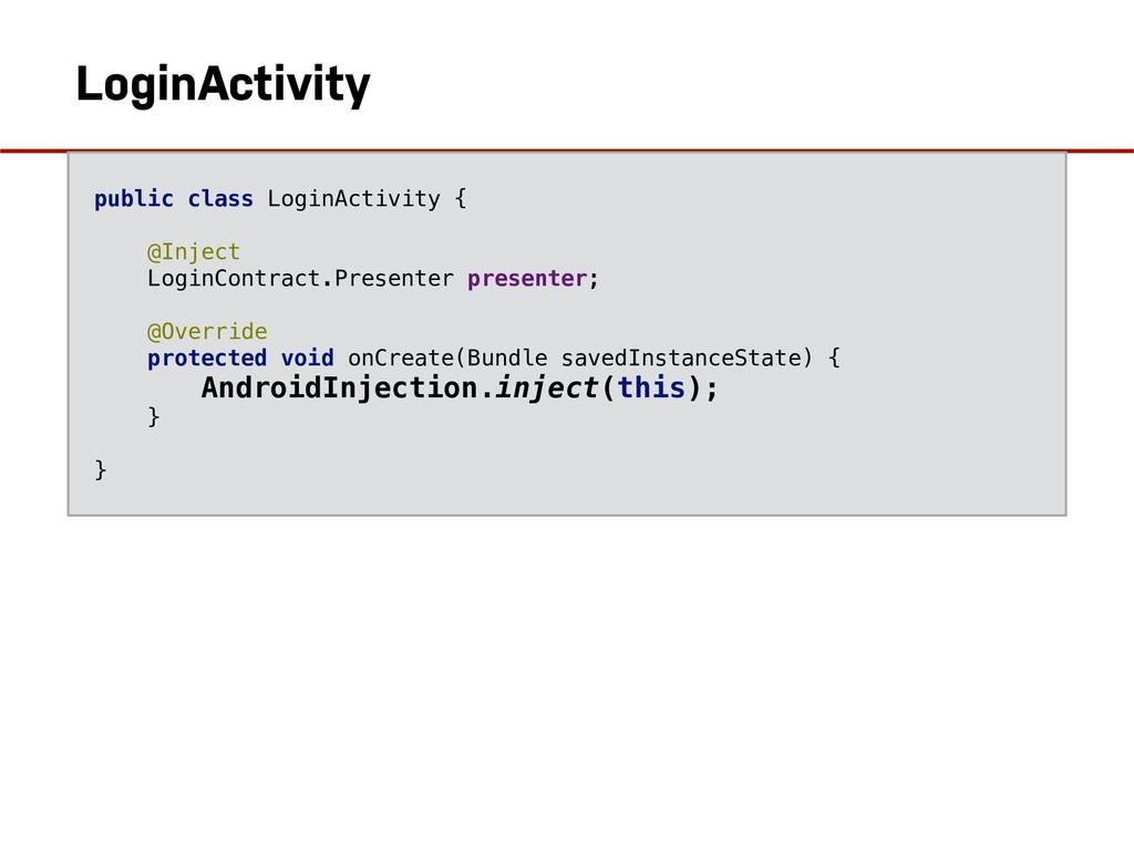 LoginActivity public class LoginActivity { @Inj...