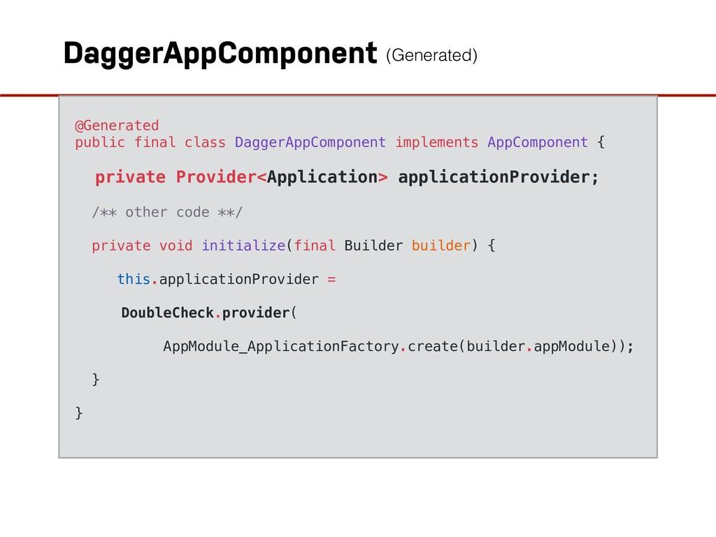Provider DaggerAppComponent @Generated public f...