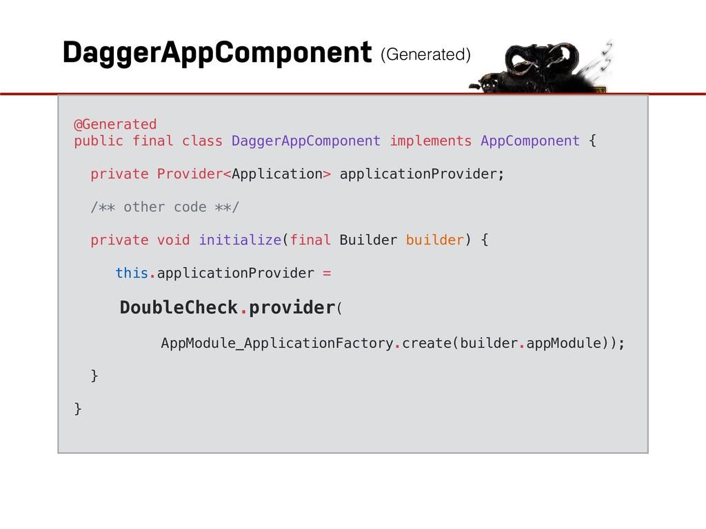 DaggerAppComponent @Generated public final clas...