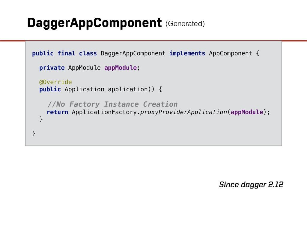 DaggerAppComponent public final class DaggerApp...