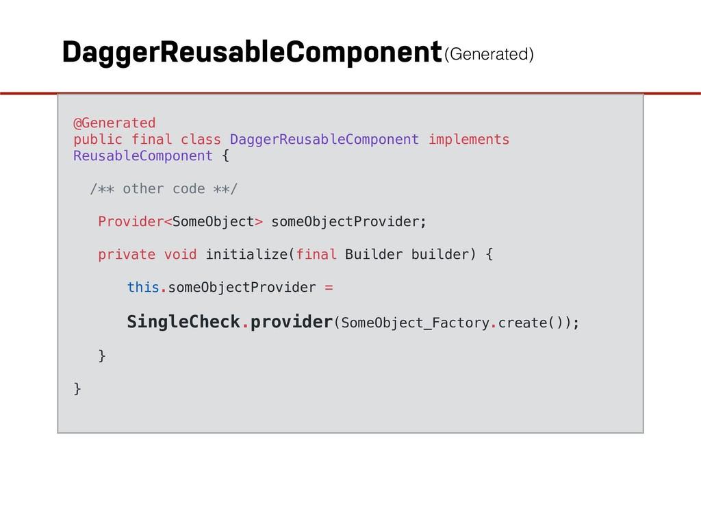 DaggerReusableComponent @Generated public final...