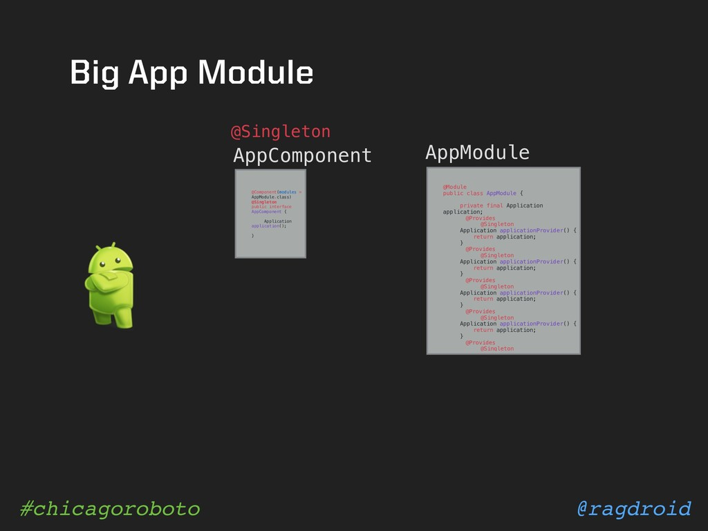 @ragdroid #chicagoroboto Big App Module AppComp...