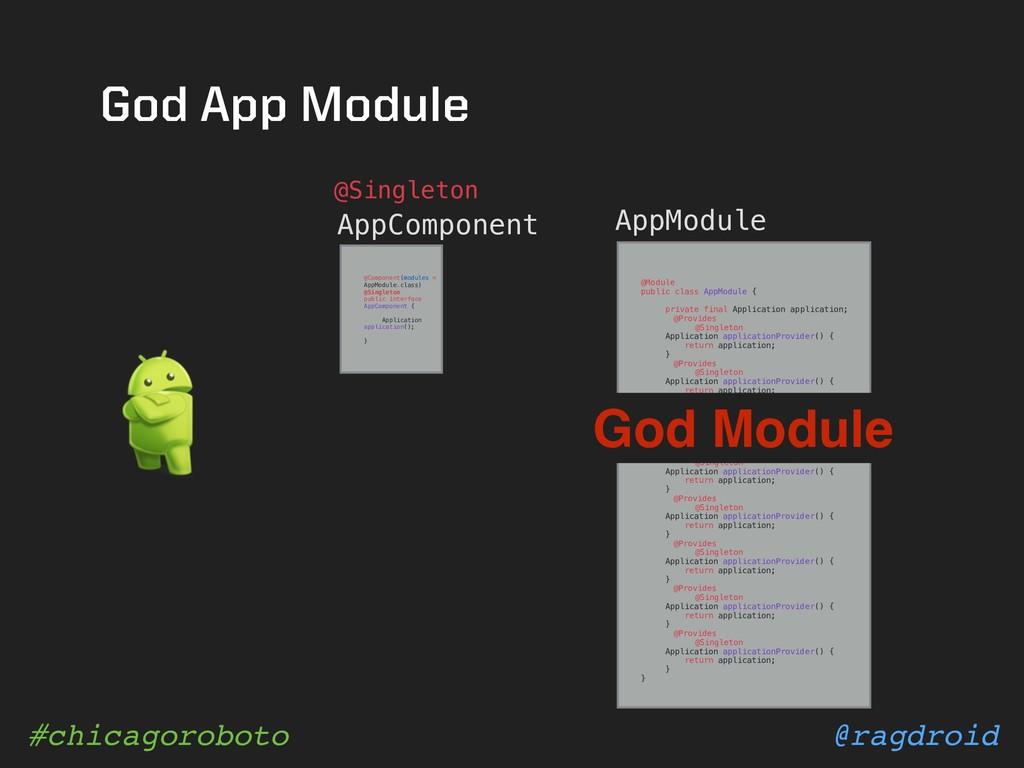@ragdroid #chicagoroboto AppComponent @Module p...