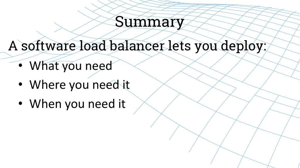 Summary • What you need  • Where ...