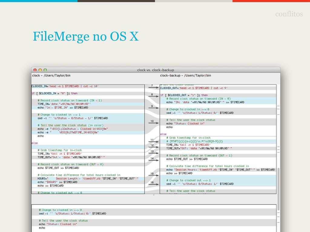 conflitos FileMerge no OS X
