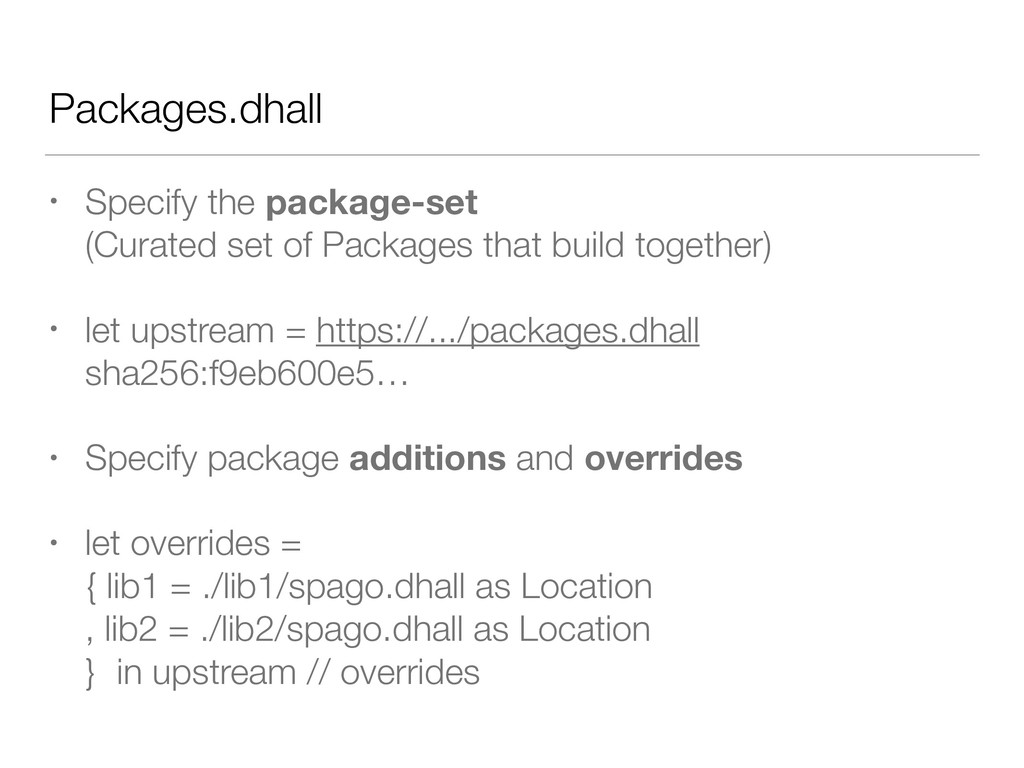Packages.dhall • Specify the package-set (Curat...