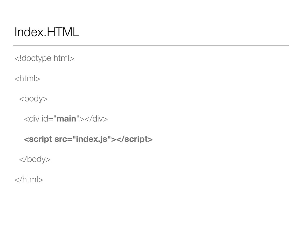 Index.HTML <!doctype html> <html> <body> <div i...