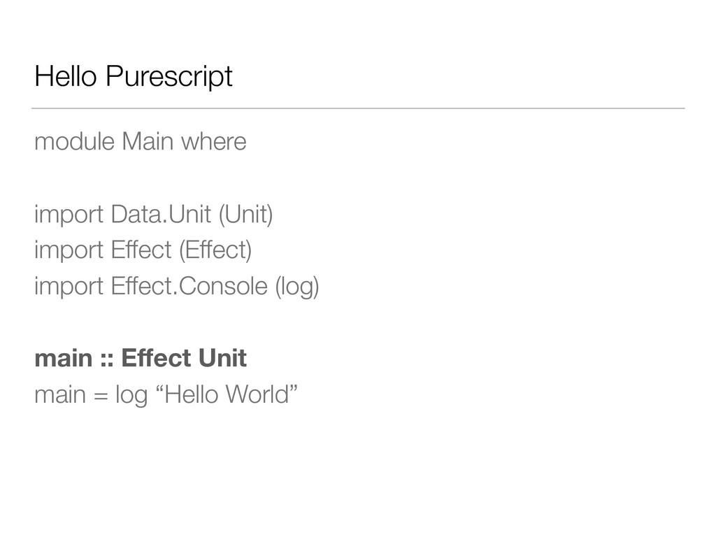Hello Purescript module Main where import Data....