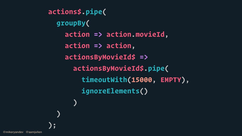 actions$.pipe(   groupBy(   action => action.mo...