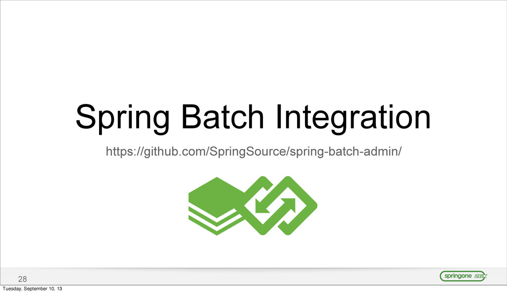 28 Spring Batch Integration https://github.com/...