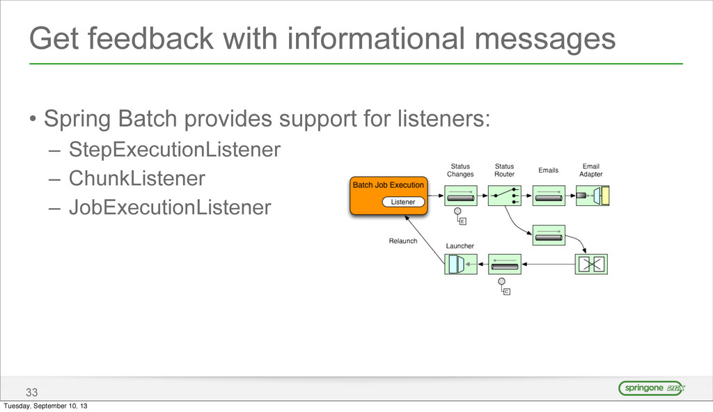 Get feedback with informational messages • Spri...