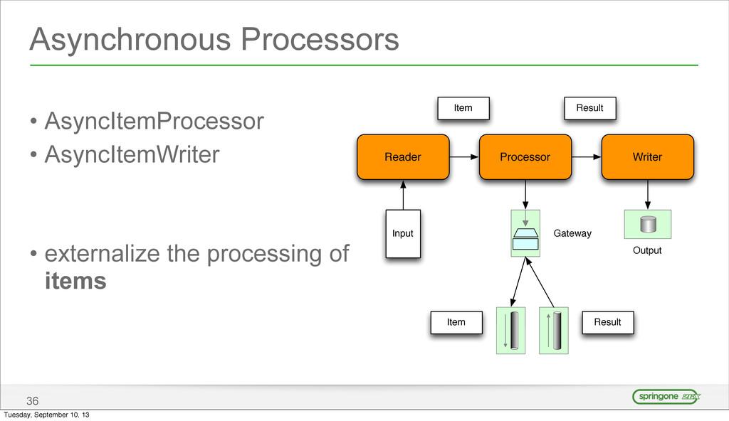 Asynchronous Processors • AsyncItemProcessor • ...