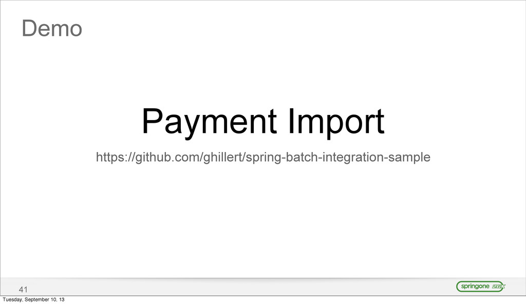 Demo 41 Payment Import https://github.com/ghill...