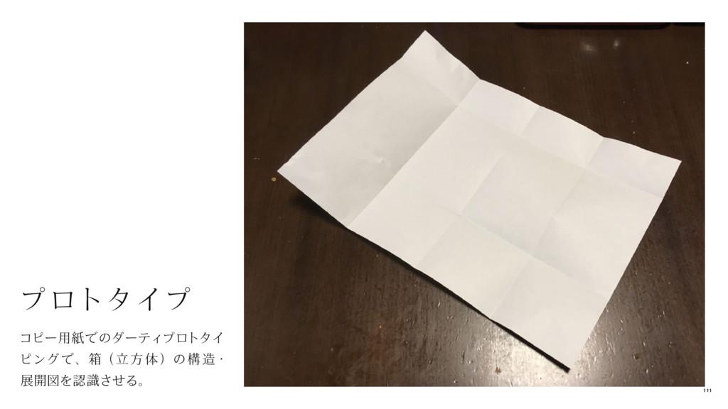 コピー用紙でのダーティプロトタイ ピングで、箱( 立 方 体 )の構 造・ 展開図を認識させる...
