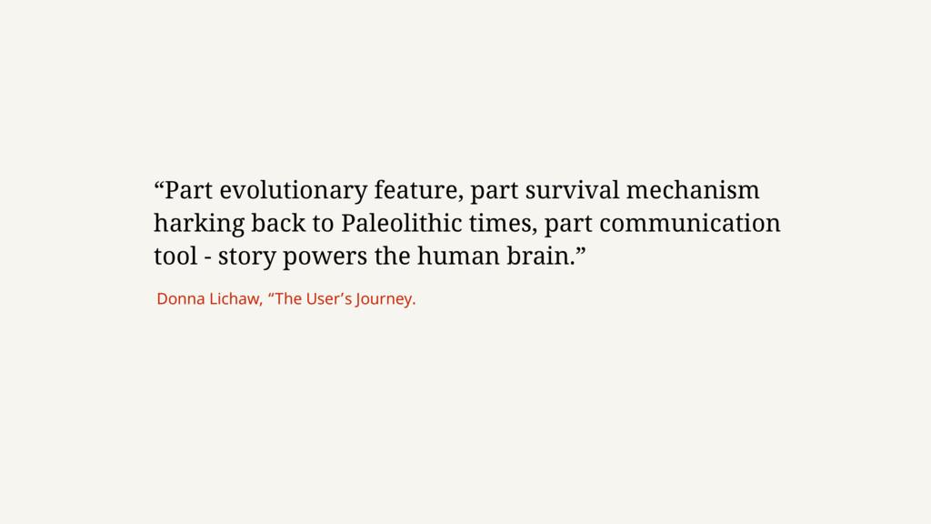"""""""Part evolutionary feature, part survival mecha..."""