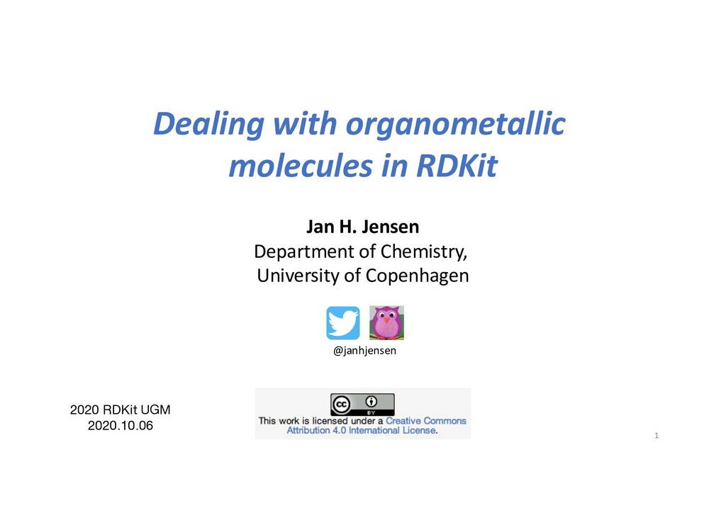 Dealing with organometallic molecules in RDKit ...