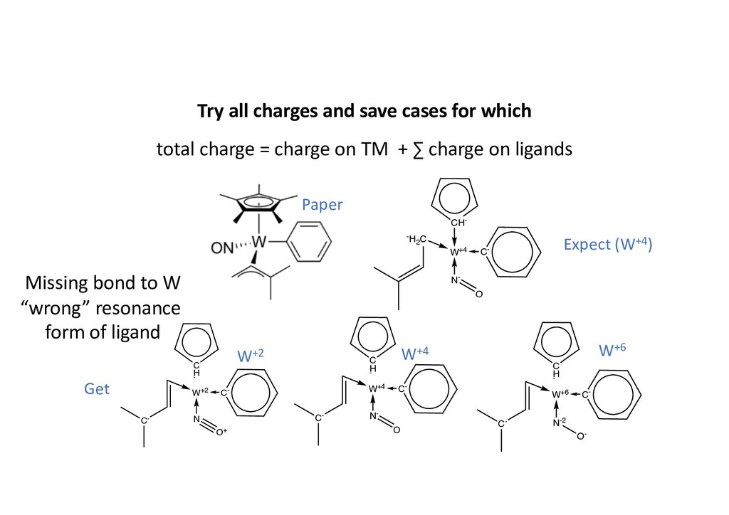 Try all charges and save cases for which total ...