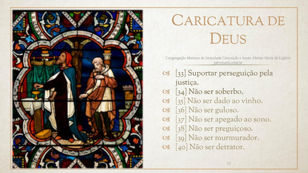 CARICATURA DE DEUS  [33] Suportar perseguição ...